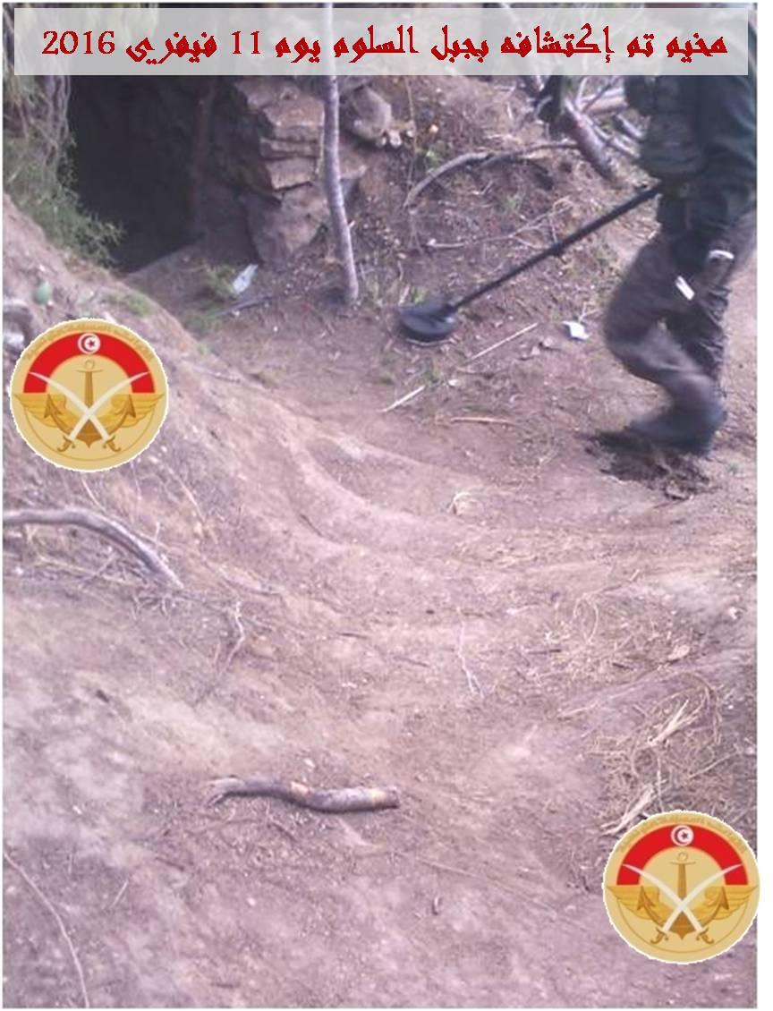 جبل السلوم :العثور على مخيم للارهابيين يحتوي على 7 الغا ...