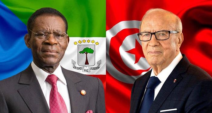 رئيس جمهورية غينيا الاستوائية يؤدي زيارة الى تونس