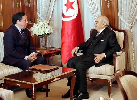 """استبعاد تونس من """"التصنيفات الظالمة"""" محور لقاء رئيس الجمهورية بوزير الخارجية"""