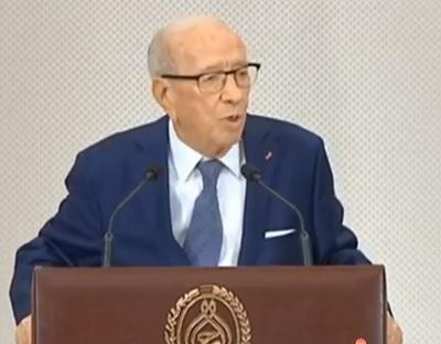 """السبسي: """"تونس تأخرت في عدّة مجالات وميادين منذ الثورة"""""""