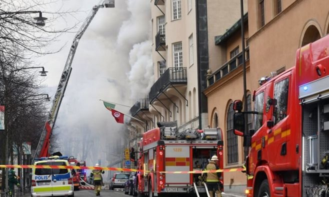 حريق بمبنى يأوي مقر سفارة تونس بستوكهولم