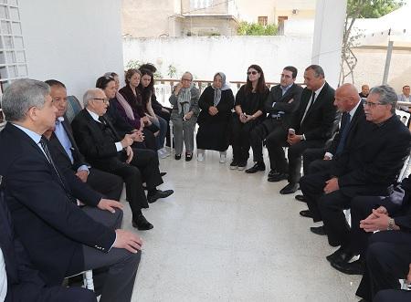 رئيس الجمهورية يقدم واجب العزاء لعائلة الفقيدة المناضلة ميّة الجريبي