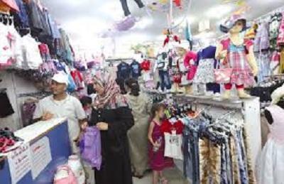 ارتفاع بنسبة تتراوح بين 20 و25  % في اسعار ملابس العيد لهذا العام