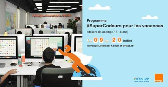 """مركز أورنج للتطوير والإبتكار ومخبر""""FabLab المتضامن"""" يطلقان برنامج #SuperCodeurs لسنة 2018"""