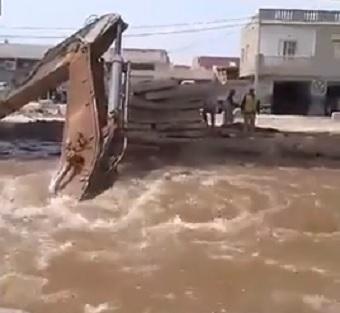 انفجار قناة مياه بالزهروني: شركة تونس للشّبكة الحديديّة السّريعة تنفي مسؤليتها