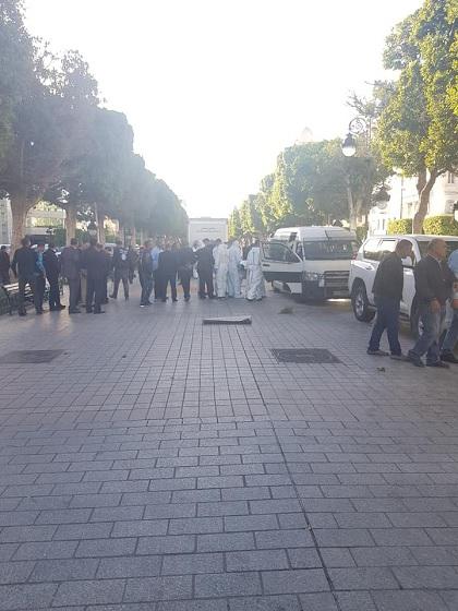 إخلاء كامل لشارع الحبيب بورقيبة بالعاصمة