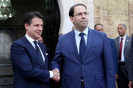 الشاهد ونظيره الإيطالي يشرفان على اجتماع أمني واقتصادي