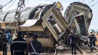7 قتلى في حادث انقلاب قطار بالمغرب