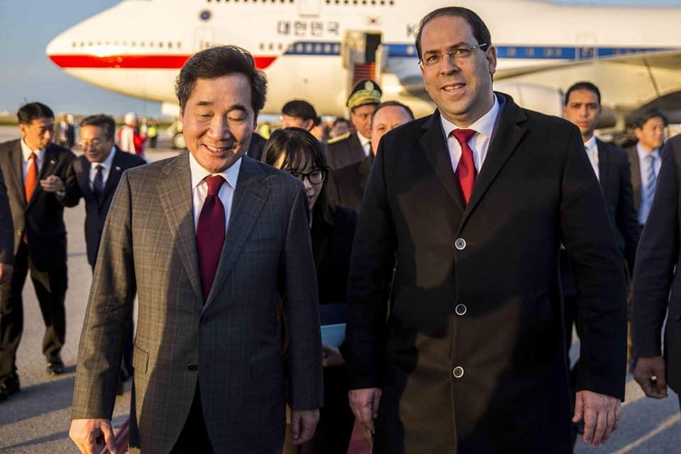 الوزير الاول الكوري الجنوبي يحلّ بتونس