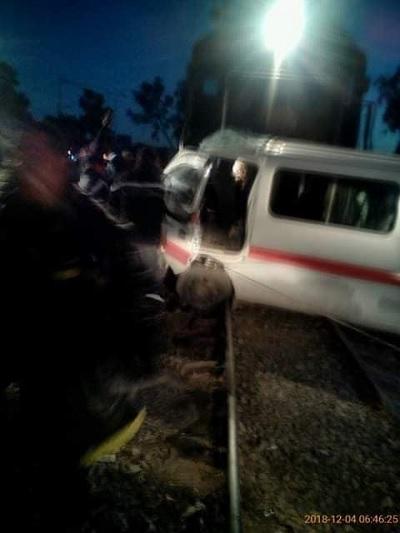 توزر:إصابات في حادث اصطدام قطار بسيارة أجرة