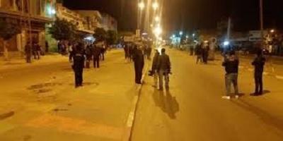 مواجهات بين المحتجين والامنيين بمدينة منزل بوزيان