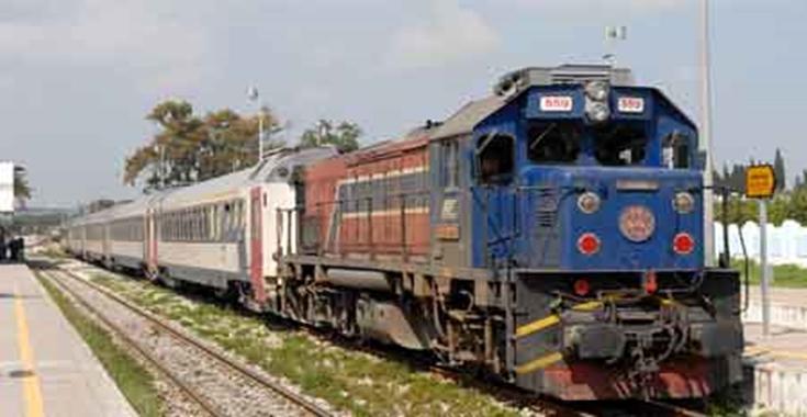 خروج قطار تونس غار الدماء عن السكة