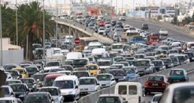 تحويل جزئي لحركة المرور على مستوى محول الطريق الشعاعية إكس-الطريق الوطنية رقم 8