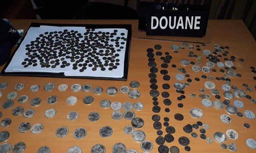 الحرس الديواني بصفاقس يحجز قطع نقدية أثرية