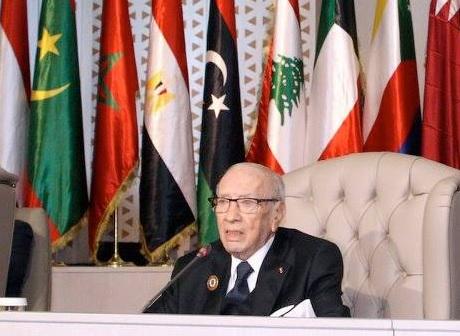 السبسي يدعو الى تخليص المنطقة العربية من جميع الازمات وبؤر التوتر