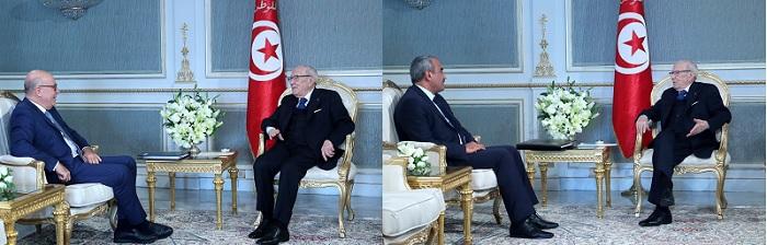 رئيس الجمهورية يلتقي وزير المالية ومحافظ البنك المركزي