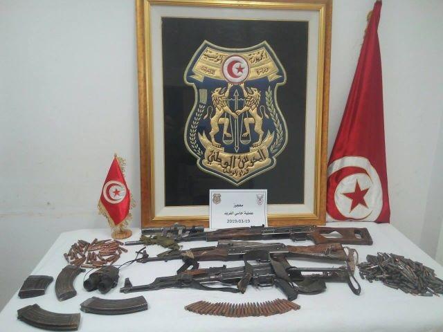 العملية الامنية بالسلوم: حجز اسلحة و متفجرات