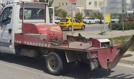 """حي النصر: إيقاف العمل بالسيارة الرافعة """" الشنقال"""""""