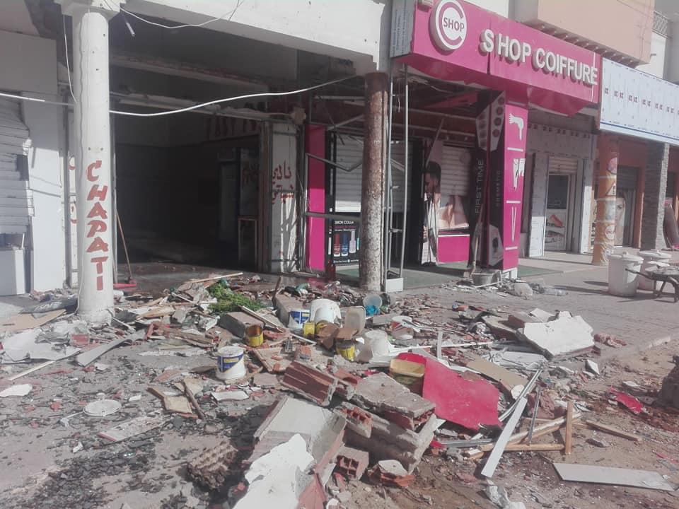 المروج: انفجار بسبب تسرب للغاز (صور)
