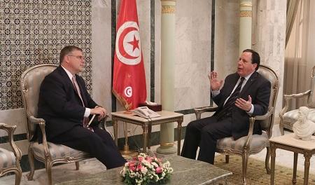 الجهيناوي يلتقي سفير الولايات المتحدة الأمريكية بتونس