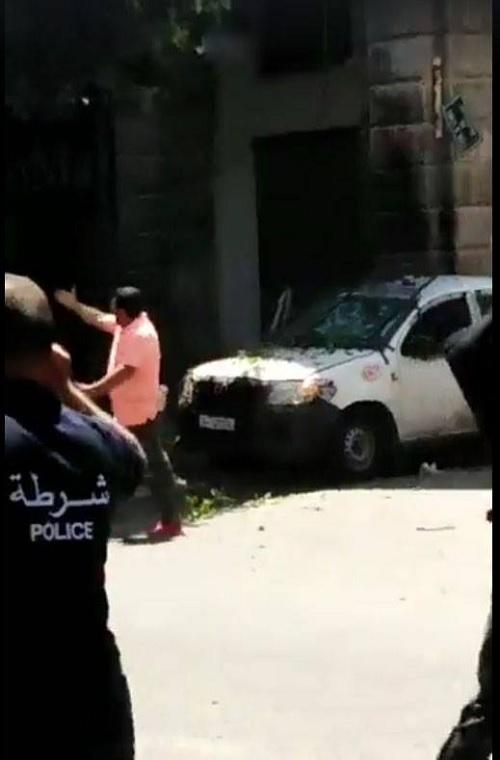 الصور الأولى من موقع التفجير بنهج شارل ديغول بالعاصمة