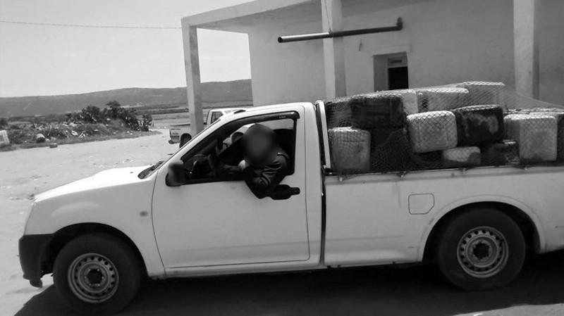 احتراق شخصين داخل شاحنة تهريب بقابس