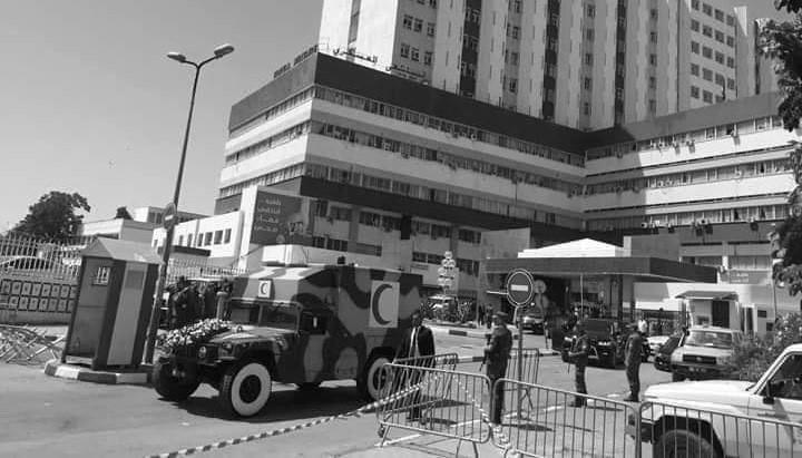 خروج جثمان رئيس الجمهورية الراحل من المستشفى العسكري