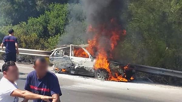 وفاة شخصين حرقا في حادث مرور بالطريق السريعة تونس-الحمامات