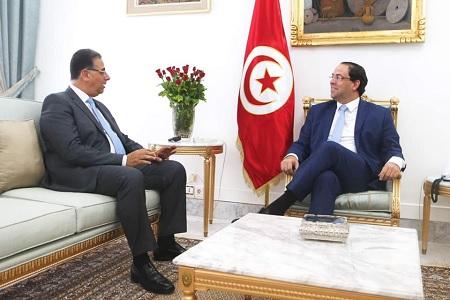 الشاهد يلتقي سفير مصر بتونس