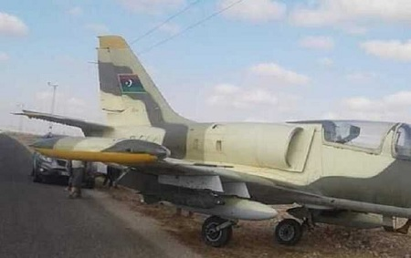 هبوط اضطراري لطائرة حربية ليبية بمدنين