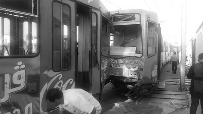 19 إصابة في حادث اصطدام المترو رقم 5