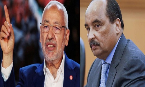 الرئيس الموريتاني يتهم قطر بتدمير تونس ..و الغنوشي يرد