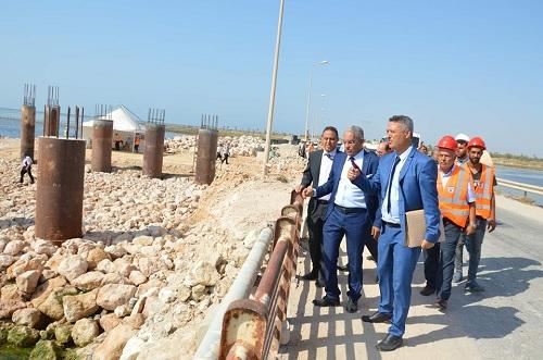 تقدم أشغال مشروع إنجاز جسر على الطريق الجهوية 204 بجزيرة قرقنة