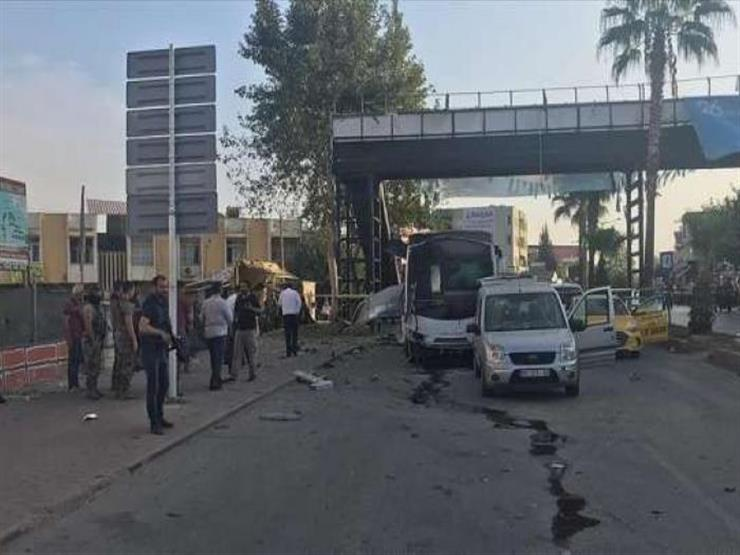 انفجار حافلة أمنيين في تركيا