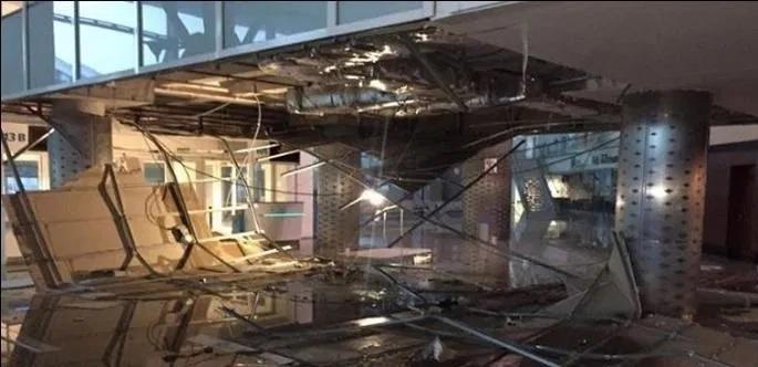مطار النفيضة : انهيار جزء من السقف بسبب الأمطار