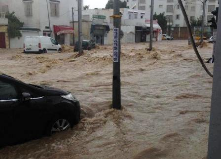 كميات الأمطار المسجلة خلال 24 ساعة الماضية