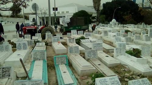 قيس سعيّد يزور مقبرة الشهداء بالسيجومي