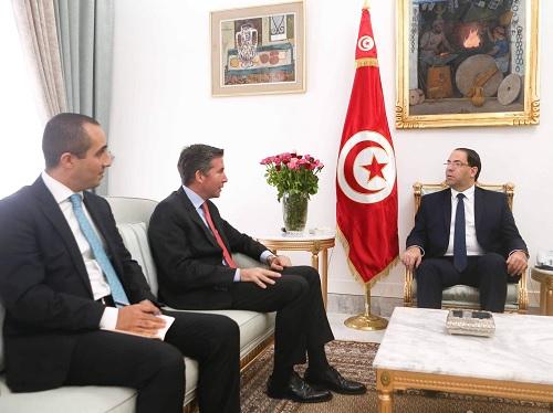 يوسف الشاهد يلتقي سفير تركيا بتونس