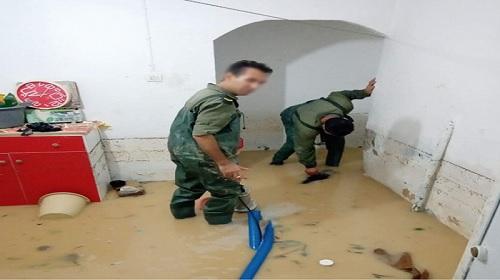 أريانة: الجيش الوطني يتدخل لنجدة المواطنين جراء الفيضانات