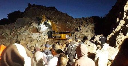 إنهيار مقطع حجارة في النفيضة: العثور على أحد العاملين على قيد الحياة