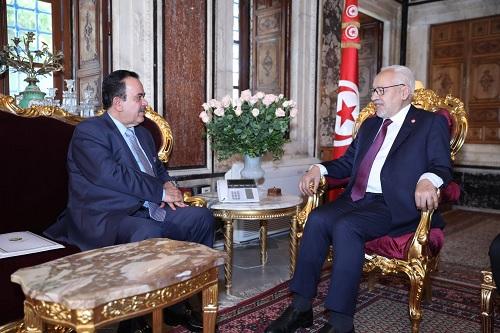 الغنوشي يلتقي سفير قطر بتونس