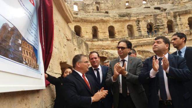 إعطاء إشارة انطلاق مشروع ترميم القصر الأثري بالجم