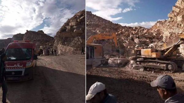 العثور على جثة العامل الثاني المفقود في حادثة انهيار مقطع حجارة بالنفيضة
