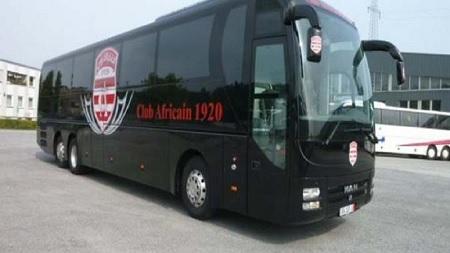 الاعتداء على حافلة النادي الافريقي بعد الدربي