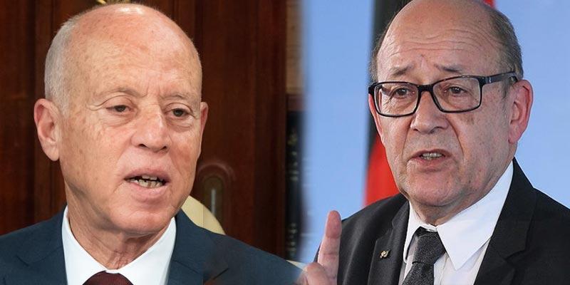 ماذا في لقاء رئيس الجمهورية بوزير الخارجية الفرنسي؟