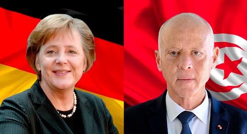 ميركل تدعو قيس سعيد لزيارة رسمية إلى ألمانيا