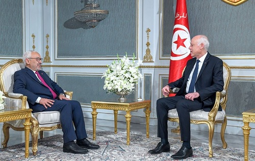 """الغنوشي: """"رئيس الدولة حريص على نجاح حكومة الجملي"""""""
