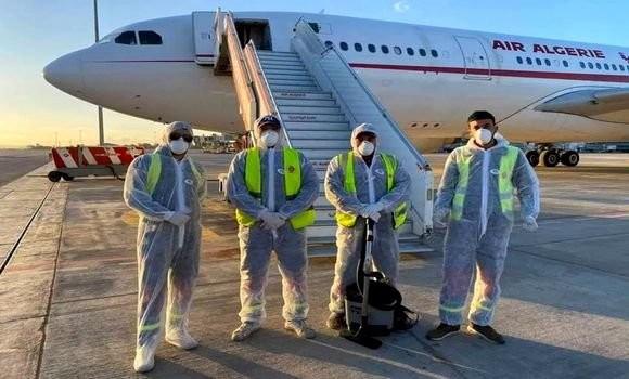 """على متنها تونسيين :""""وصول الطائرة الجزائرية القادمة من مدينة ووهان الصينية """""""