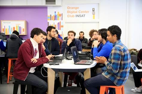إفتتاحOrange Digital Center Club  الرابع بالمعهد الوطني للعلوم التطبيقية والتكنولوجيا INSAT