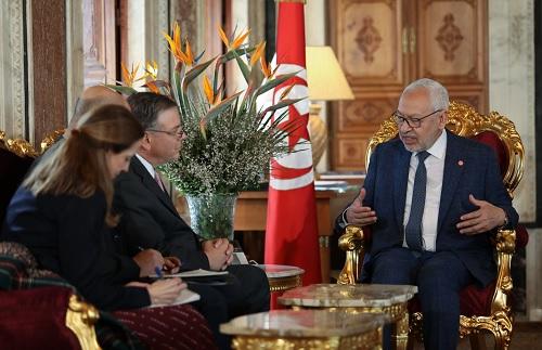 الغنوشي للسفير الأمريكي: الشعب التونسي غاضب بسبب صفقة القرن